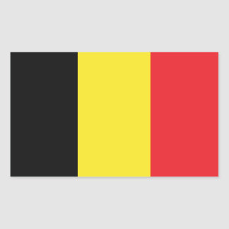 Bandera de Bélgica Rectangular Pegatina