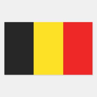 Bandera de Bélgica Rectangular Pegatinas