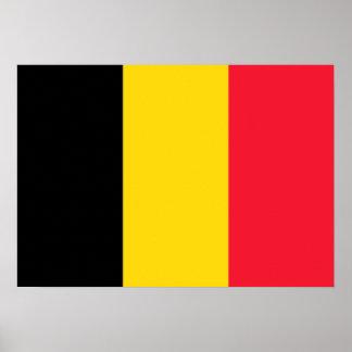 Bandera de Bélgica Póster