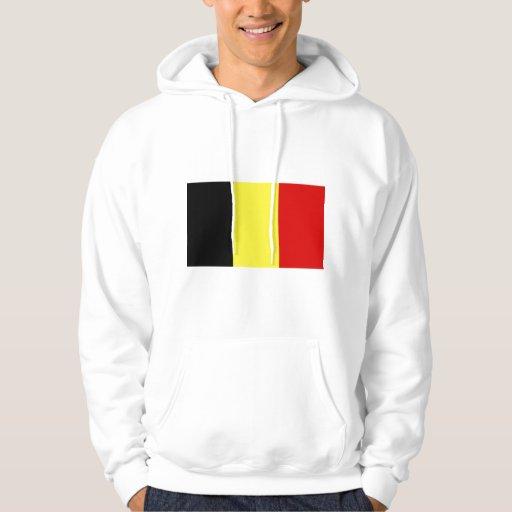 Bandera de Bélgica Suéter Con Capucha