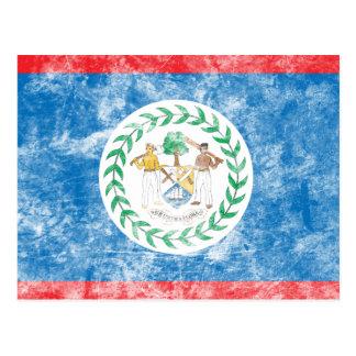 Bandera de Belice del vintage Postales
