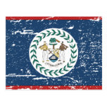 Bandera de Belice del vintage Tarjeta Postal