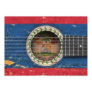 Bandera de Belice en la guitarra acústica vieja Comunicados Personalizados