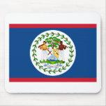 Bandera de Belice Tapetes De Ratón
