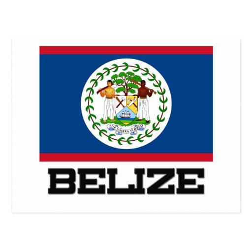 Bandera de Belice Postales