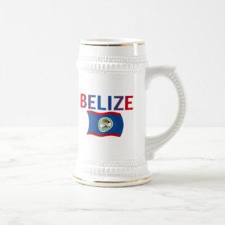 Bandera de Belice - tricolora Taza De Café