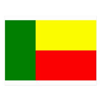 Bandera de Benin, África Tarjeta Postal