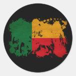 Bandera de Benin Pegatina Redonda
