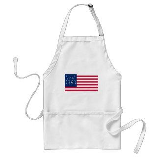 Bandera de Bennington de la revolución americana Delantal
