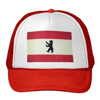 Bandera de Berlim Grunged Gorras