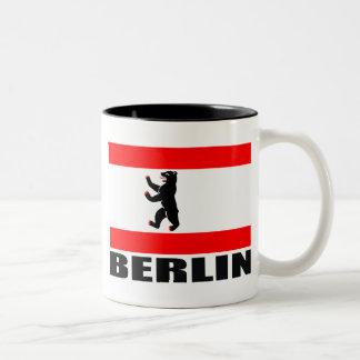 Bandera de Berlín Taza De Dos Tonos
