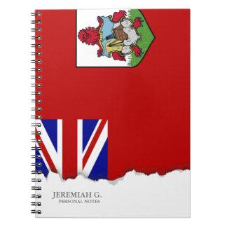 Bandera de Bermudas Libretas Espirales