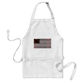 Bandera de Betsy Ross, línea arte ardiente Delantal