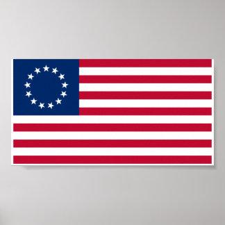 Bandera de Betsy Ross Póster