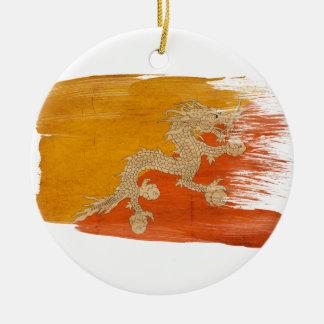 Bandera de Bhután Ornaments Para Arbol De Navidad