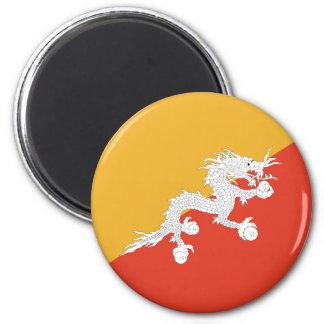 Bandera de Bhután Imán Redondo 5 Cm