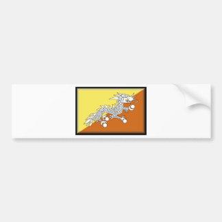 Bandera de Bhután Pegatina De Parachoque