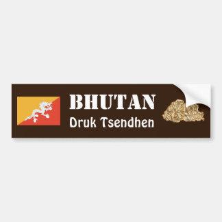 Bandera de Bhután + Pegatina para el parachoques Pegatina Para Auto