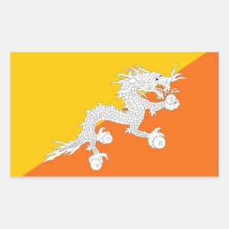 Bandera de Bhután Pegatina Rectangular
