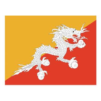Bandera de Bhután Postales