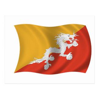 Bandera de Bhután Tarjetas Postales