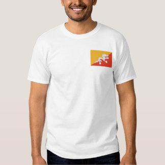 Bandera de Bhután y camiseta del mapa Playeras
