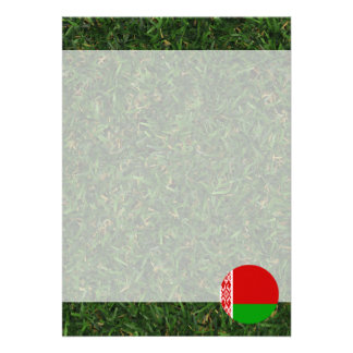 """Bandera de Bielorrusia en hierba Invitación 5"""" X 7"""""""