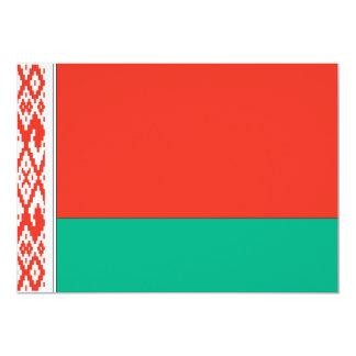 """Bandera de Bielorrusia Invitación 5"""" X 7"""""""