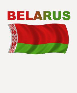 Bandera de Bielorrusia (ondulada) Remeras