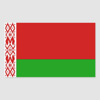 Bandera de Bielorrusia Pegatina Rectangular