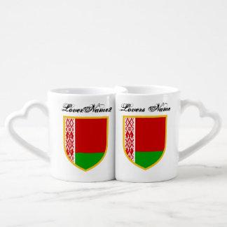 Bandera de Bielorrusia Tazas Para Parejas