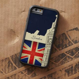 Bandera de Big Ben Gran Bretaña de la ciudad de Funda De iPhone 6 Tough Xtreme