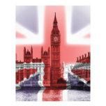 Bandera de Big Ben Londres y de Union Jack Membrete A Diseño