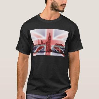 Bandera de Big Ben Londres y de Union Jack Playera