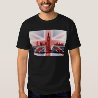 Bandera de Big Ben Londres y de Union Jack Playeras