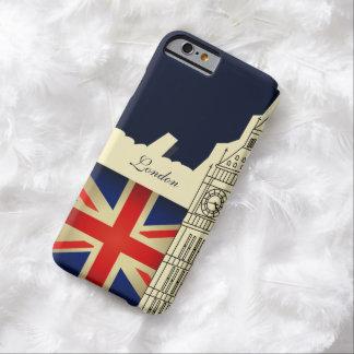 Bandera de Big Ben Union Jack de la ciudad de Funda Para iPhone 6 Barely There