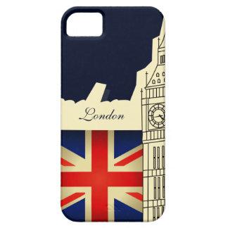 Bandera de Big Ben Union Jack de la ciudad de iPhone 5 Carcasa