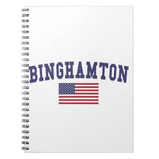 Bandera de Binghamton los E.E.U.U. Libros De Apuntes