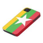 Bandera de Birmania Case-Mate iPhone 4 Protectores