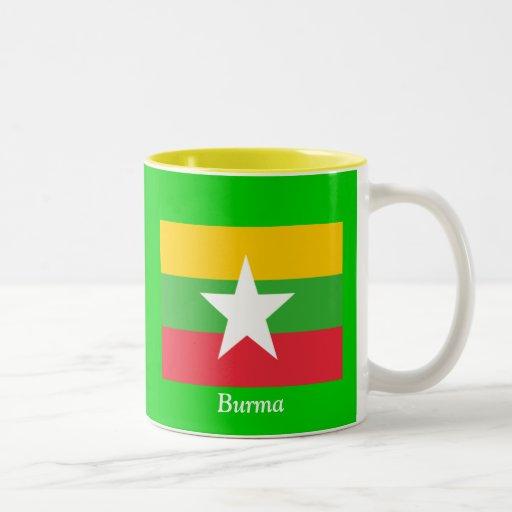 Bandera de Birmania Taza Dos Tonos