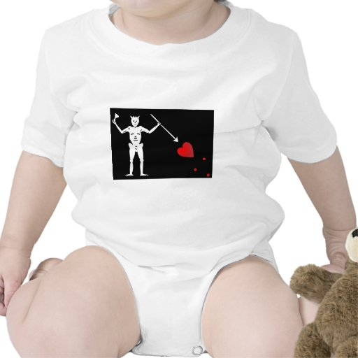 Bandera de BlackBeards (Edward enseña) Traje De Bebé