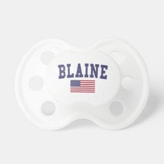 Bandera de Blaine los E.E.U.U. Chupetes Para Bebés