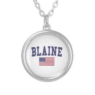 Bandera de Blaine los E.E.U.U. Colgante Redondo