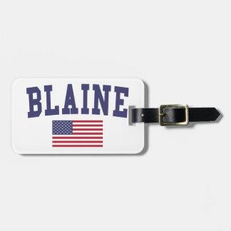 Bandera de Blaine los E.E.U.U. Etiquetas De Equipaje