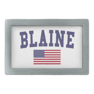 Bandera de Blaine los E.E.U.U. Hebillas De Cinturón Rectangulares