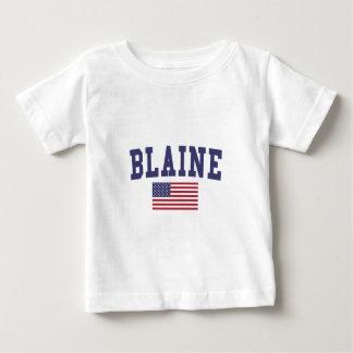 Bandera de Blaine los E.E.U.U. Playera De Bebé