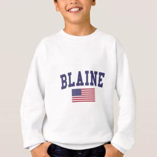 Bandera de Blaine los E.E.U.U. Sudadera