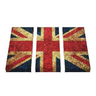 Bandera de Bling Reino Unido Impresiones En Lona Estiradas