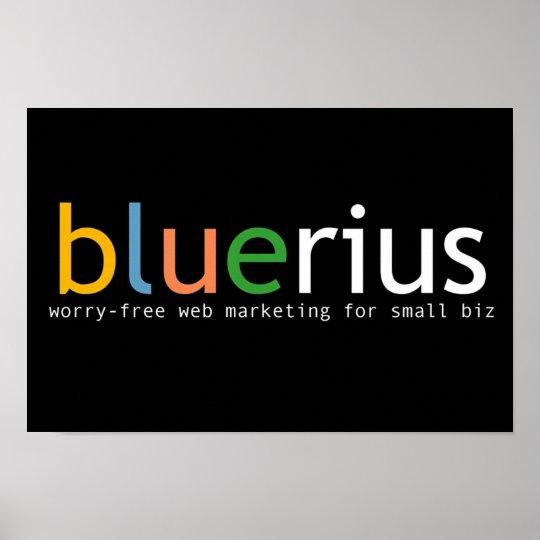 bandera de bluerius.com póster