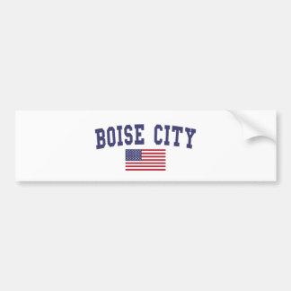 Bandera de Boise City los E.E.U.U. Pegatina Para Auto